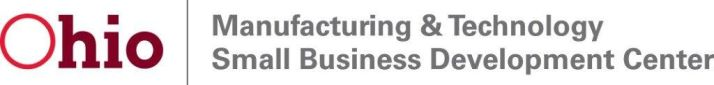 Logo for the Manufacturing and Technology Small Business Development Center (MTSBDC) at the University of Toledo